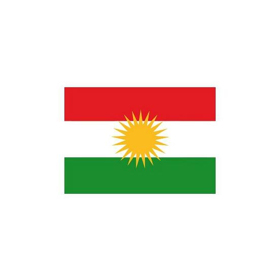 Stickertjes van vlag van Koerdistan