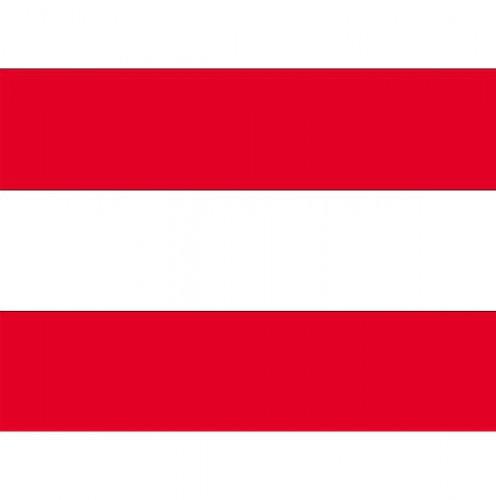 Stickertjes van vlag van Oostenrijk (bron: Oranjediscounter)