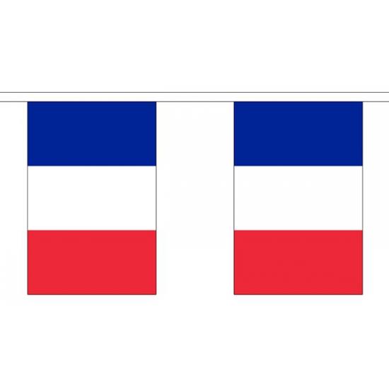 Stoffen vlaggenlijn Frankrijk 3 meter