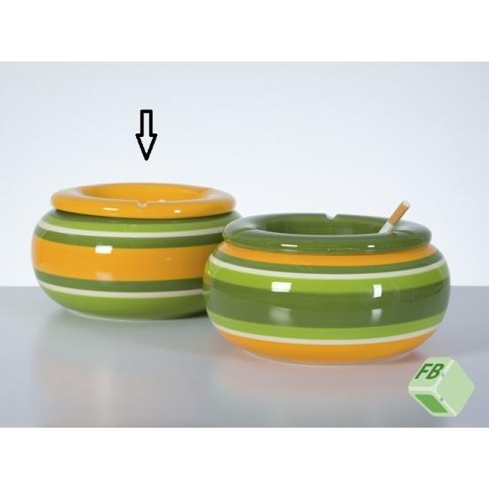 Storm asbak geel/groen 23 cm