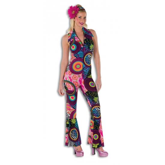 Strakke disco jumpsuit voor dames (bron: Oranjediscounter)