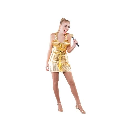 Supersterren outfit goud voor dames (bron: Oranjediscounter)