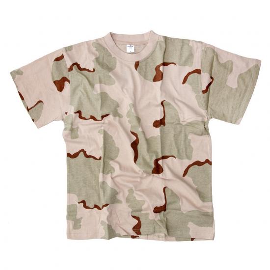 T shirt korte mouw desert camouflage print