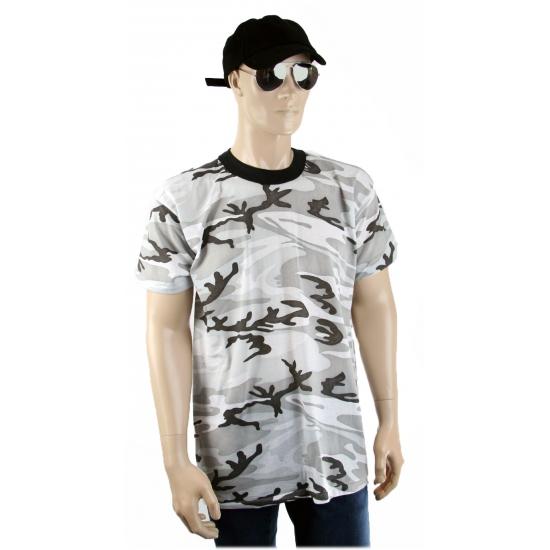 T shirt urban camouflage print