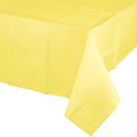 Tafelkleden geel 274 x 137 cm (bron: Oranjediscounter)