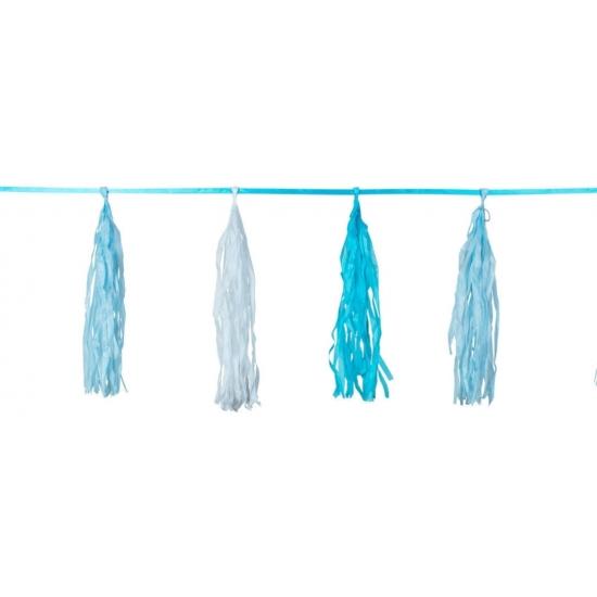 Tasselslinger blauw 3 meter