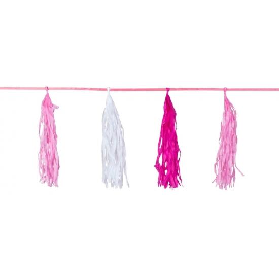 Tasselslinger roze 3 meter