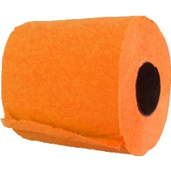 Toiletpapier oranje