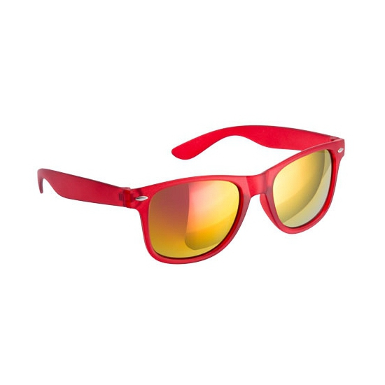 Trendy zonnebrillen rood spiegelglas