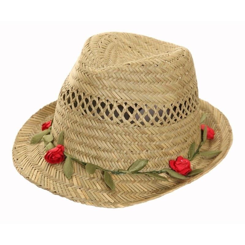 Trilby hoedje voor dames met roosjes