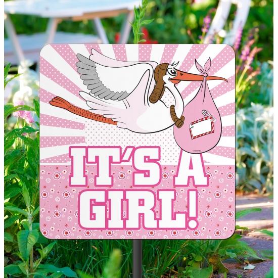 Tuinbord its a girl