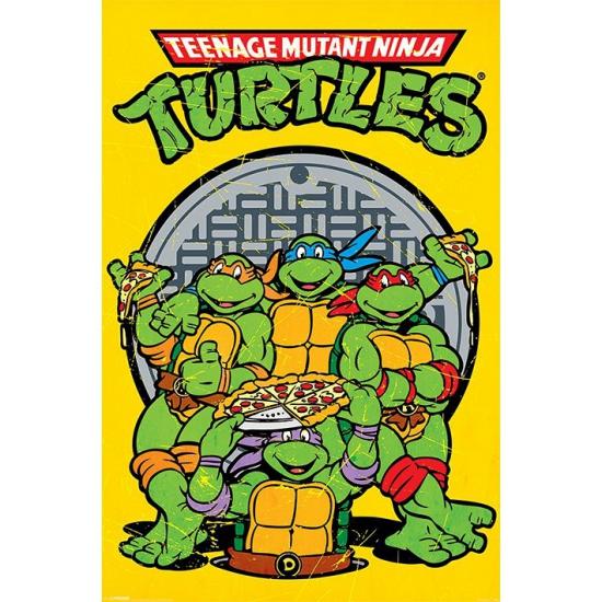 Turtles maxi poster 61 x 91,5 cm (bron: Oranjediscounter)