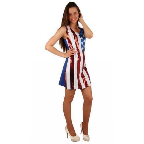 USA jurkje met pailletten (bron: Oranjediscounter)