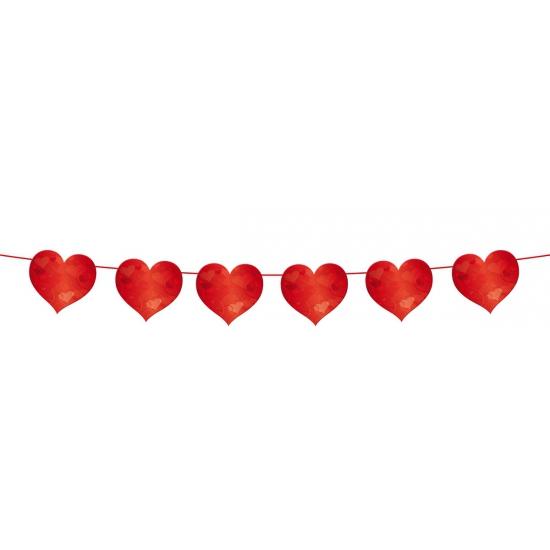 Valentijn slinger rode hartjes