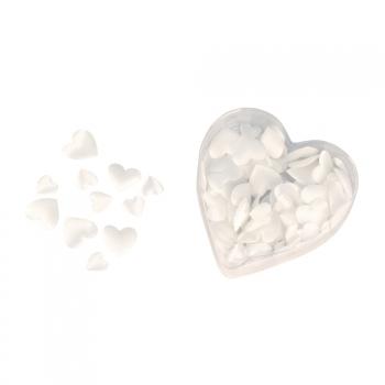 Valentijn strooihartjes wit