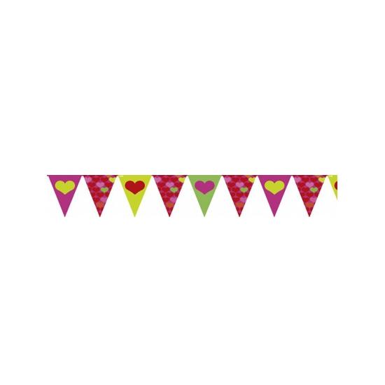 Valentijn vlaggenlijn slingers 4 meter