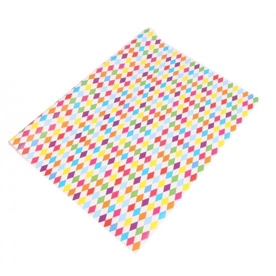 Verjaardagscadeau inpakpapier harlekijn gekleurd