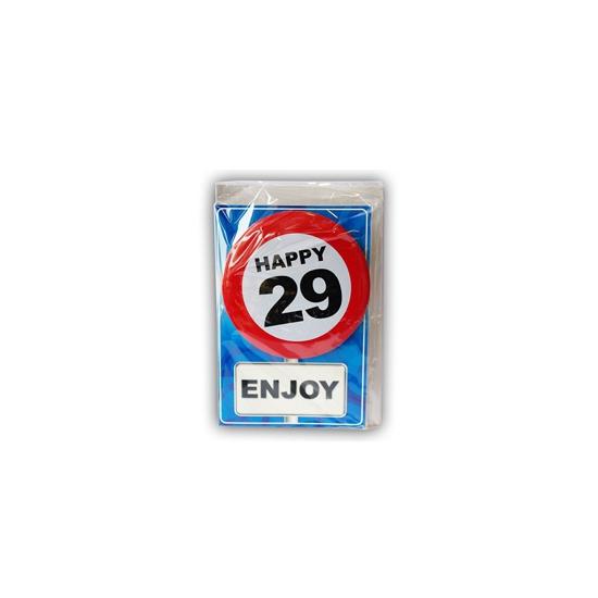 Verjaardagskaart 29 jaar