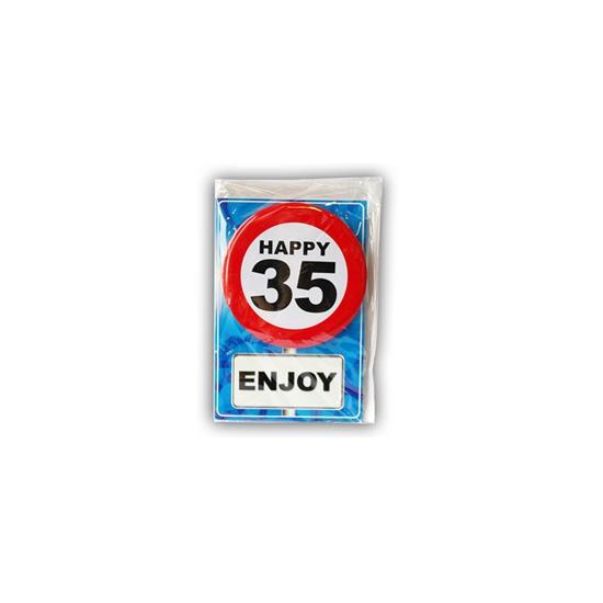 Verjaardagskaart 35 jaar (bron: Oranjediscounter)