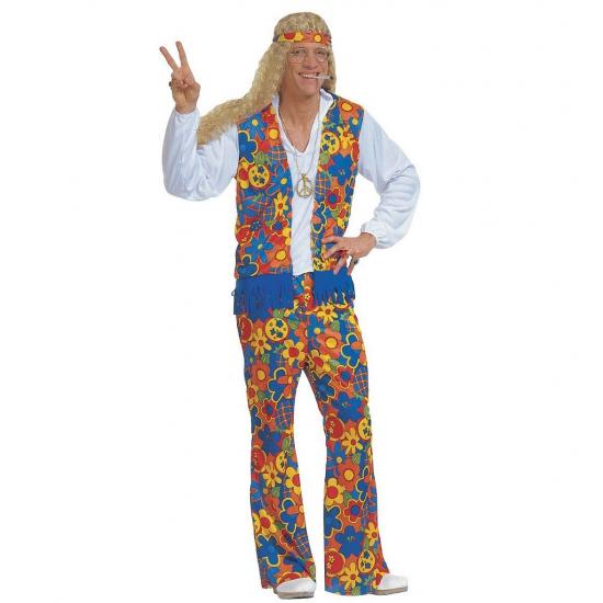 Verkleedkleding Hippie kostuum (bron: Oranjediscounter)