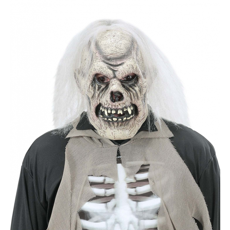Verrotte schedel masker voor volwassenen (bron: Oranjediscounter)