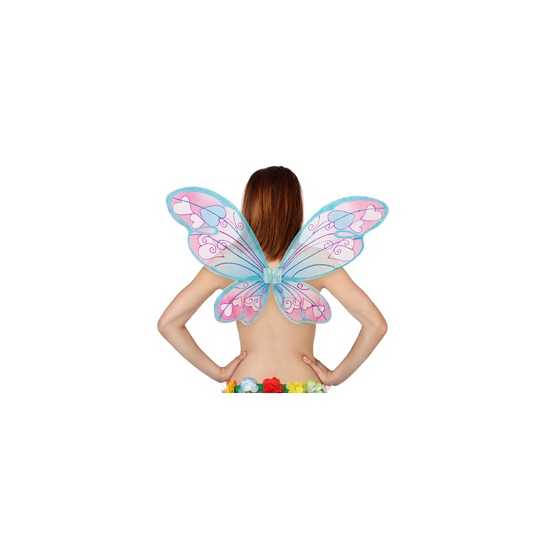 Vlinder vleugels met hartjes (bron: Oranjediscounter)