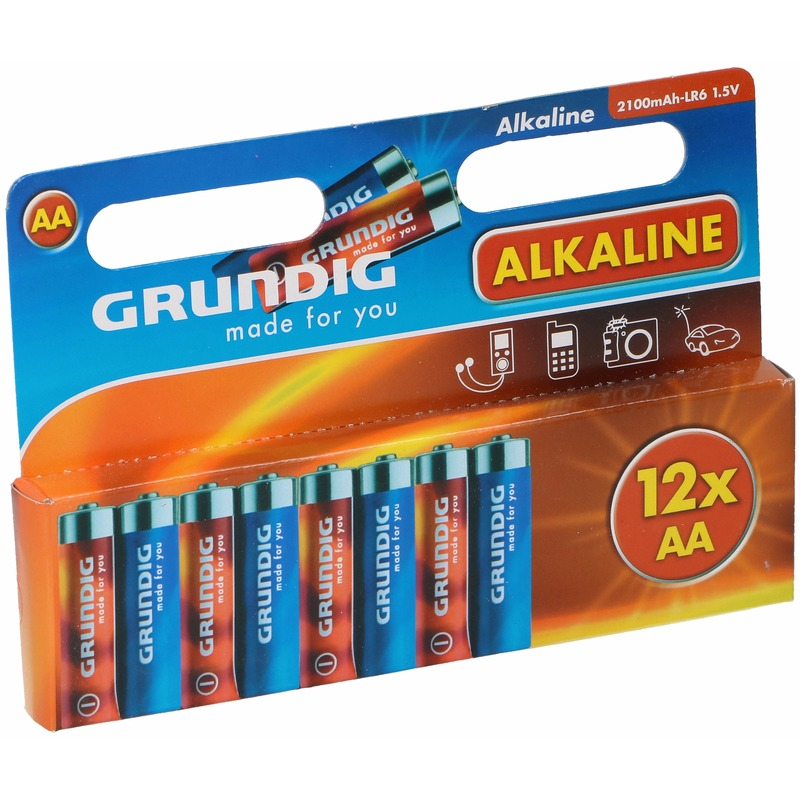 Voordeelpakket batterijen AA Grundig 12 stuks