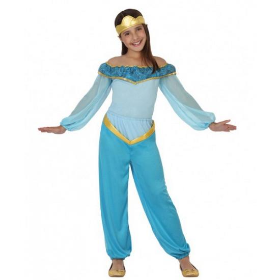 Voordelig blauw arabische prinses kostuum