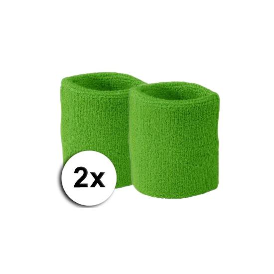 Voordelige Lime zweetbandjes set