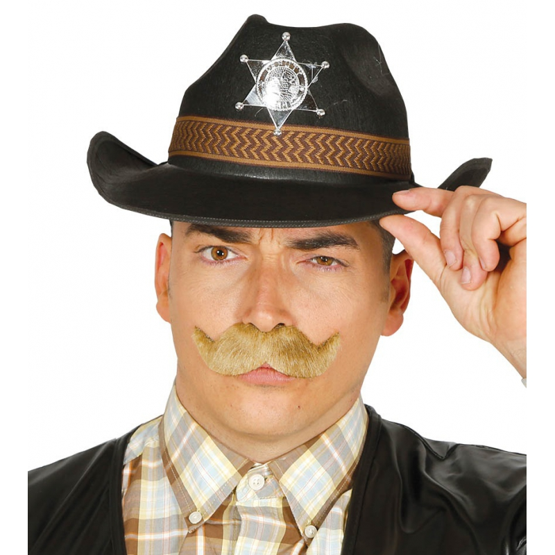 Western Sheriff hoed zwart voor mannen (bron: Oranjediscounter)
