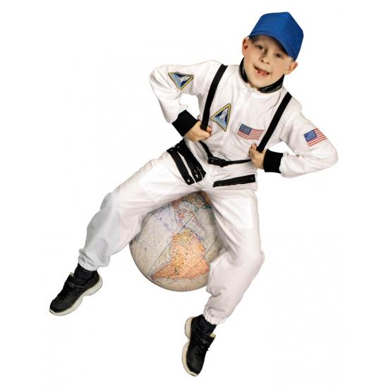 Wit astronauten pak voor kinderen (bron: Oranjediscounter)