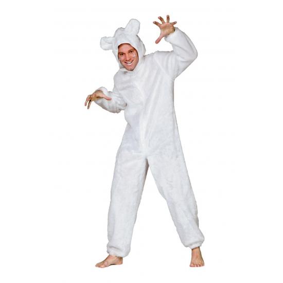 Wit ijsberen pak voor volwassenen (bron: Oranjediscounter)