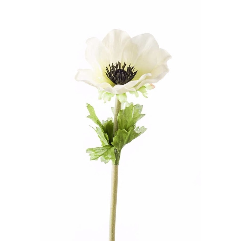 Witte Anemoon kunstbloem 47 cm