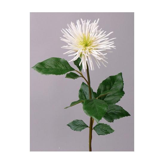 Witte Chrysant kunstbloem 71 cm