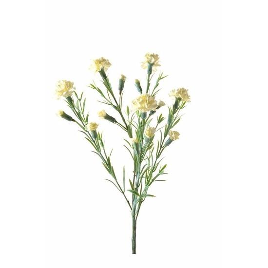 Witte Dianthus kunstbloem 64 cm