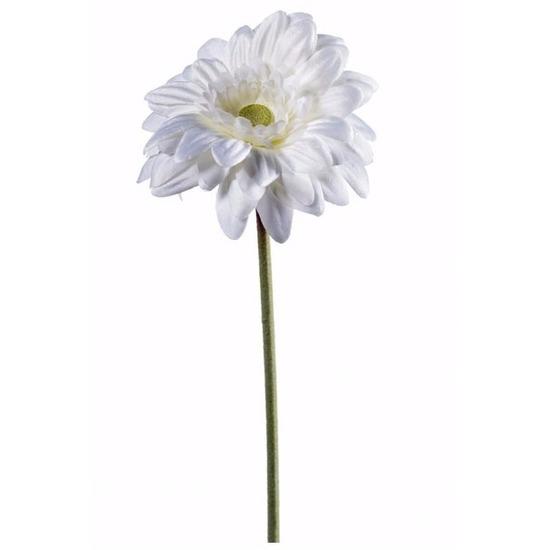 Witte gerbera kunstbloem 47 cm