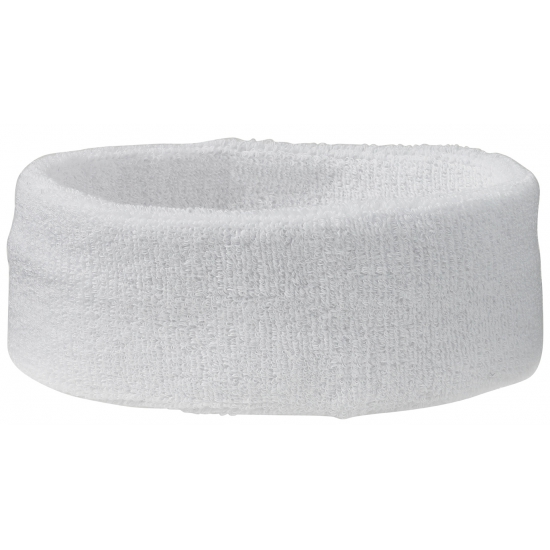 Witte hoofd zweetbandjes