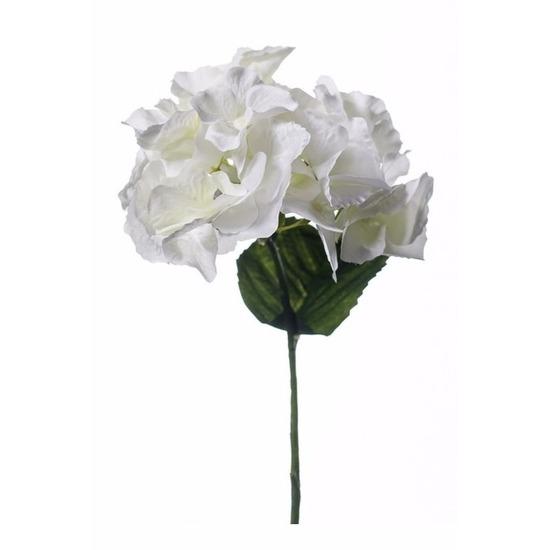 Witte hortensia kunstbloem 28 cm