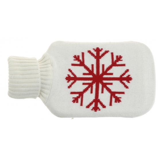 Witte kruik met sneeuwvlok