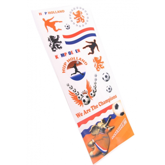 WK raamstickers Hup Holland 2 stuks