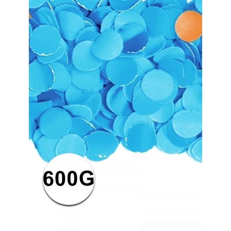 Zakje met 600 gram blauwe confetti