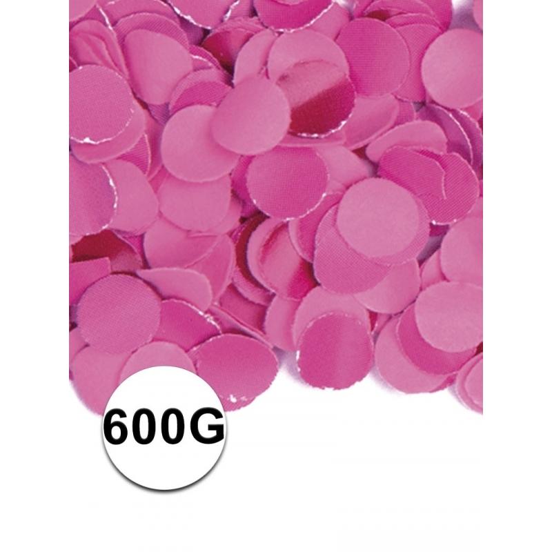Zakje met 600 gram fuchsia roze confetti