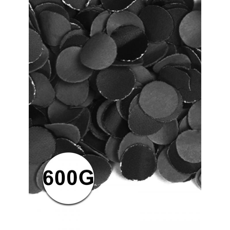 Zakje met 600 gram zwarte confetti