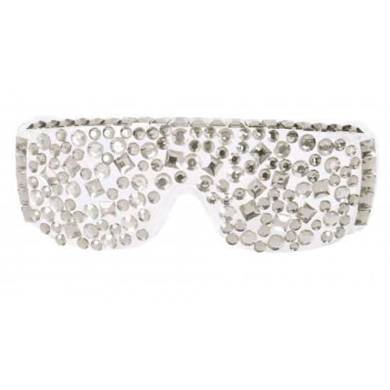 Zilveren diamanten bril lady
