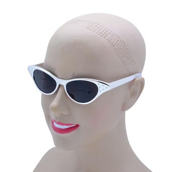 Zilveren disco feestbril