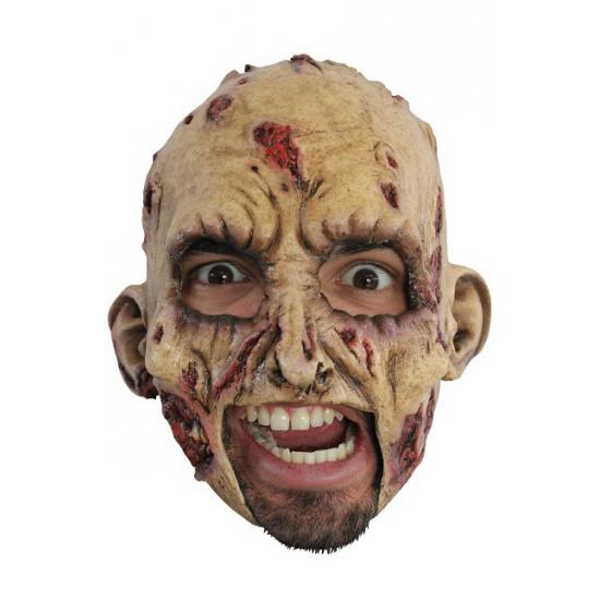 Zombie masker gemaakt van rubber