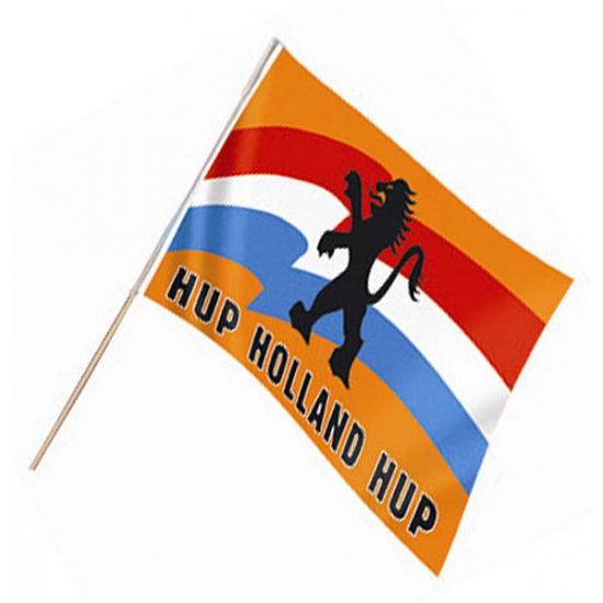 Zwaaivlag met Hollandse leeuw (bron: Oranjediscounter)