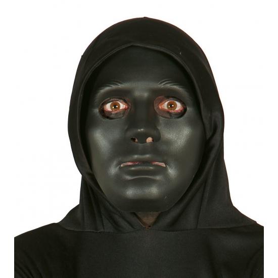 Zwart effen gezichtsmasker