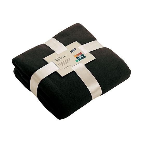 Zwart fleece deken (bron: Oranjediscounter)