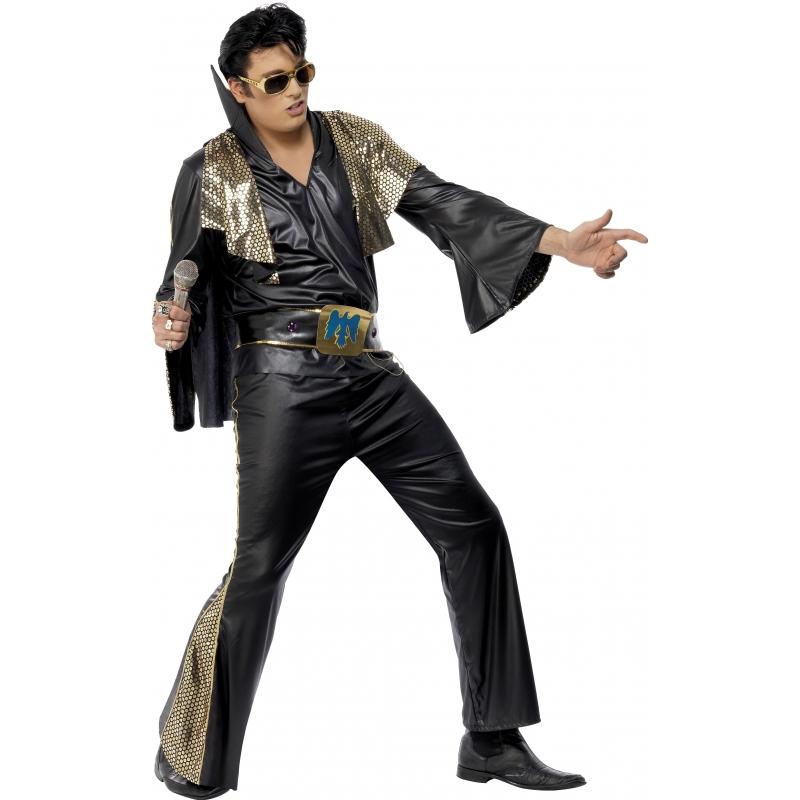 Zwart met goud Elvis Presley pak (bron: Oranjediscounter)